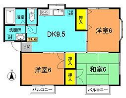 福井ハイツ[101号室]の間取り