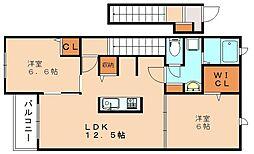 クレメント1[2階]の間取り