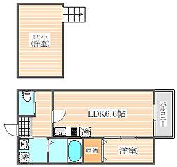 ビータス筥松2番館[2階]の間取り