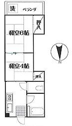 城北日専連ビル[4−B号室]の間取り