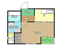高知県高知市西久万の賃貸アパートの間取り