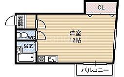 三河ハイツ[3階]の間取り