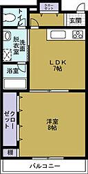 moco-06[8階]の間取り