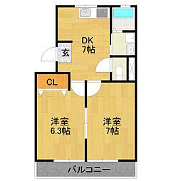 第1高杉マンション[3階]の間取り