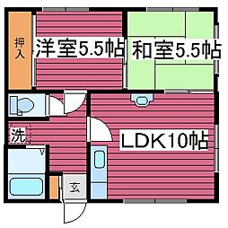 コーポ上田[102号室]の間取り