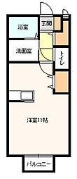 神奈川県厚木市恩名4丁目の賃貸アパートの間取り