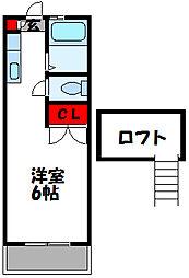 ファランドハイツ新宮[203号室]の間取り