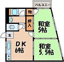 広島県広島市東区戸坂千足2丁目の賃貸マンションの間取り