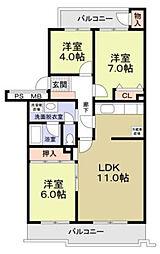 鷺沼エムロード[3階]の間取り