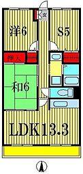 アージュリブレ東四つ木[4階]の間取り