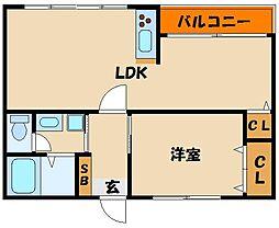 馬田マンション[3階]の間取り
