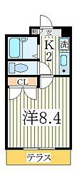 ヴィレッタS[1階]の間取り
