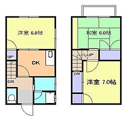[テラスハウス] 神奈川県平塚市山下 の賃貸【/】の間取り