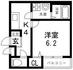 仮称)足代南2丁目マンション[301号室号室]の間取り