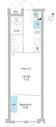 東京メトロ有楽町線 護国寺駅 徒歩9分の賃貸マンション 4階1LDKの間取り