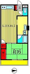 ブルームハナノイ[3階]の間取り