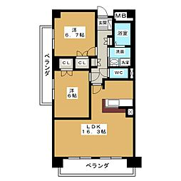 プロシード・アン[3階]の間取り
