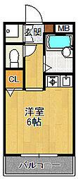 クリヨン宝塚[102号室]の間取り