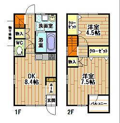 フィールドイン湯川ⅡC棟[1階]の間取り