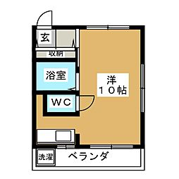 コーポ美栄[1階]の間取り