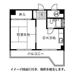 日商岩井袋町マンション--[202号室]の間取り