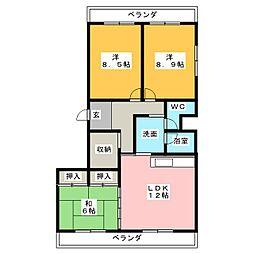 サンハイツ8[3階]の間取り
