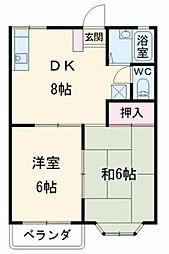 千葉県市川市平田2丁目の賃貸アパートの間取り