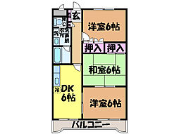 愛媛県松山市福音寺町の賃貸マンションの間取り