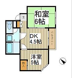 岩田屋ビル[2階]の間取り