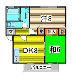 オイコス 弐番館[2階]の間取り