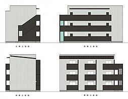 新築デザイナーズアパート laglycine(ラグリシーヌ)[3階]の外観
