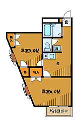 東京都府中市新町の賃貸マンションの間取り