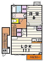 プチメゾン サザンウッド[2階]の間取り
