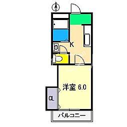 コーポあゆみ[2階]の間取り
