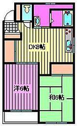 三笠ハイツ[101号室]の間取り