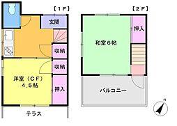 亀戸7丁目テラスハウス[1・2F号室]の間取り
