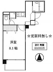 サムティ京都祇園[201号室号室]の間取り