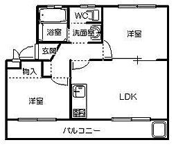 茨城県ひたちなか市大字東石川の賃貸マンションの間取り