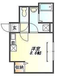 兵庫県三田市中央町の賃貸アパートの間取り