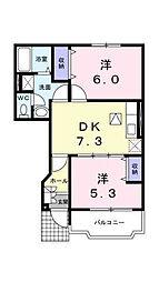 グリーンフィール2001[103 号室号室]の間取り