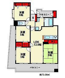 シティライフ春日原駅[2階]の間取り