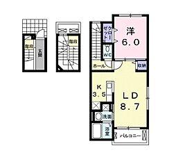 レスター・シティ[3階]の間取り
