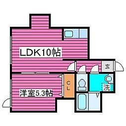北海道石狩市緑苑台東三条3丁目の賃貸アパートの間取り