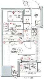 東京メトロ日比谷線 築地駅 徒歩5分の賃貸マンション 3階1Kの間取り
