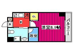 エルスタンザ仙台八幡 4階1Kの間取り