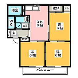 シャーメゾン観世 A棟[1階]の間取り