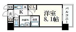 プレサンス名古屋STATIONサティナ[3階]の間取り
