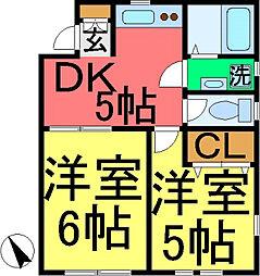 コンフォート・K・1[2階]の間取り