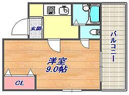 KYマンション[302号室]の間取り