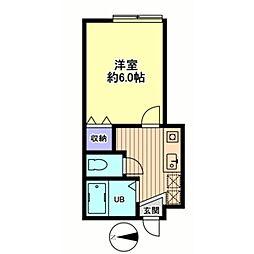 信開セルーラ金沢南[103号室]の間取り